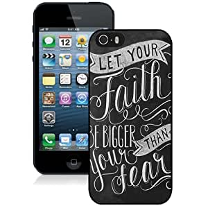 DIY iphone 4s Case Design with Let Your Faith Be Bigger Than Your Fear Cell Phone Case for Iphone 4s Generation in Black