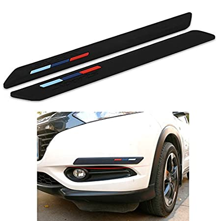 COSMOSS Car Front Rear Bumper Lip Spoiler 16 Inch White Protection Corner Pad