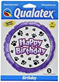 PIONEER BALLOON COMPANY B'day Paw Prints Foil Pack, 18''