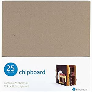 Silhouette of America Silhouette Chipboard, 12 by 12-Inch, 25/Pack