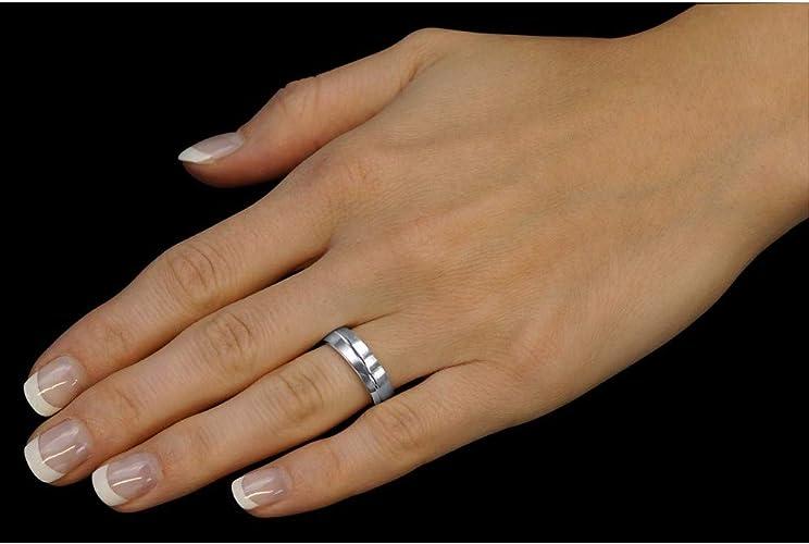 Bague de Mariage pour Femme et Homme QRZLP012M SILVEGO Argent 925//1000