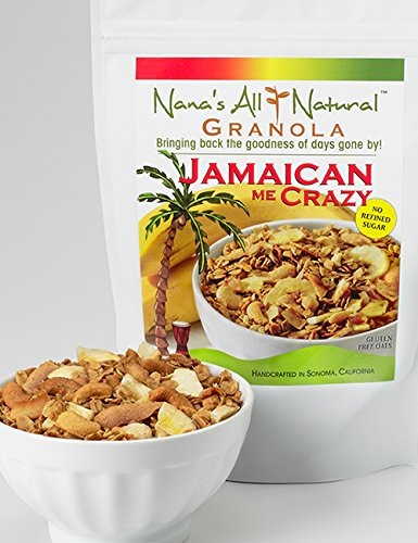Nana's All Natural - Jamaican Me Crazy - 12 Oz Gluten Free Granola with Banana Chips, Cashews and Coconut by Nana's All Natural