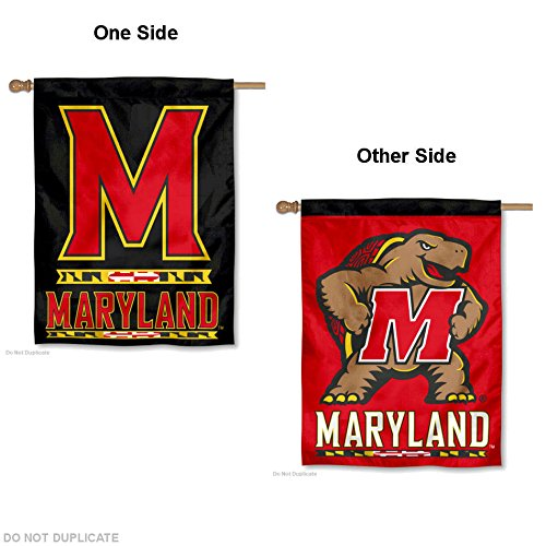 College Flags and Banners Co. Maryland Terps Dual Logo Double Sided House Flag]()