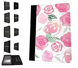 1006 - cool fun cute love pink shabby chic flowers floral nature Design Amazon Kindle Fire HD 7'' 4th Generation 2014 Fashion Trend TPU Leather Flip Case Protective Purse Pouch Book Style Defender Stand Cover