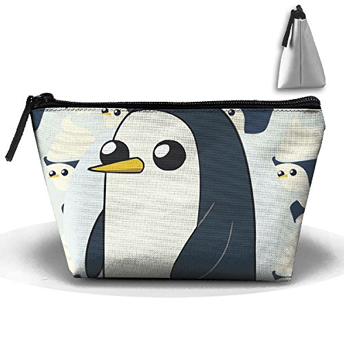 Samcoper Trapezoidal Capacity Storage Makeup Bag Penguin Ice Cram Portable Hand Travel Wash Bag