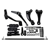 Astra Depot Forward Controls Kit For Harley Sportster XL883 XL1200 Peg + Lever + Linkages + Mounting Hardware