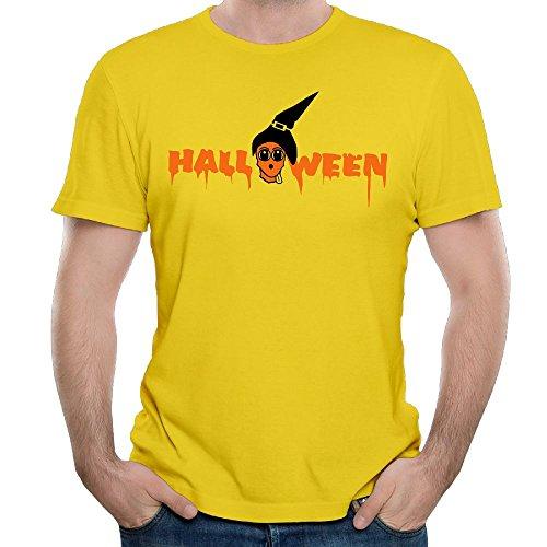 MA GLLER Custom HALLOWEEN PUMPKIN PARTY HORROR T Shirt For Men 100% Organic Cotton O-Neck (Creepy Halloween Food Names)