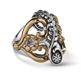 American West Mixed Metal Leaf & Vine Design Ring