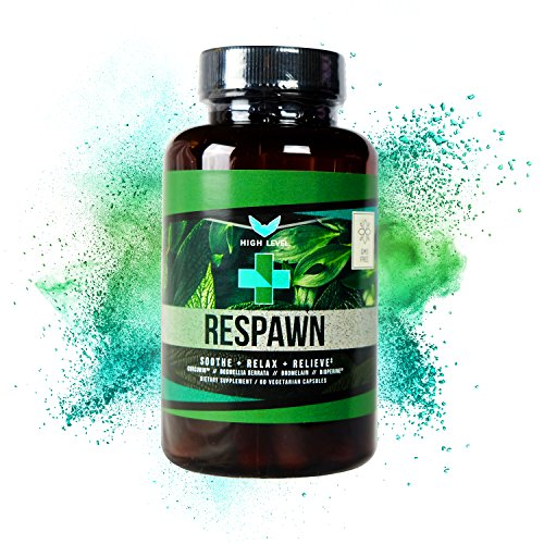 High Level Respawn | Turmeric/Curcumin, Boswellia Serrata, Bromelain, Bioperine | Natural, Non-GMO Anti-Inflammatory, Pain Relief | Soothing Joint Pain Relief | Eliminate Swelling | 60 Veggie Caps (Reliever Inflammatory Pain Anti)