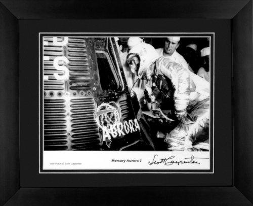 Carpenter Autographed Photo - Century Collection Mercury Aurora Autographed Framed Photograph