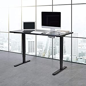 FLEXISPOT Height Adjustable Electric Standing Desk Set Three-Stage Heavy Duty Steel Stand up Desk with Automatic Memory… 12