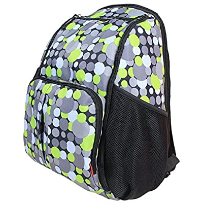 Damero Eco Lightweight Travel Diaper Backpack Changing Bag with Insulated Bottle Pocket and Changing Pad