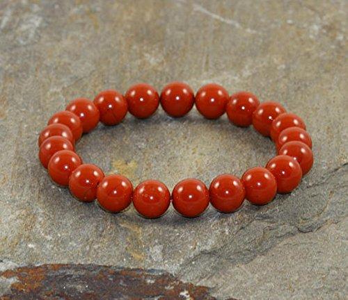 8 mm rosso Jasper Stacking braccialetto, AA grade, Healing Crystals, Wrist Mala Beads, protezione Bracciale – Love & Passion – sacral Chakra supporto