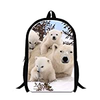 GiveMeBag Generic Fashionable Backpacks for Students Polar Bear School Bags for Children