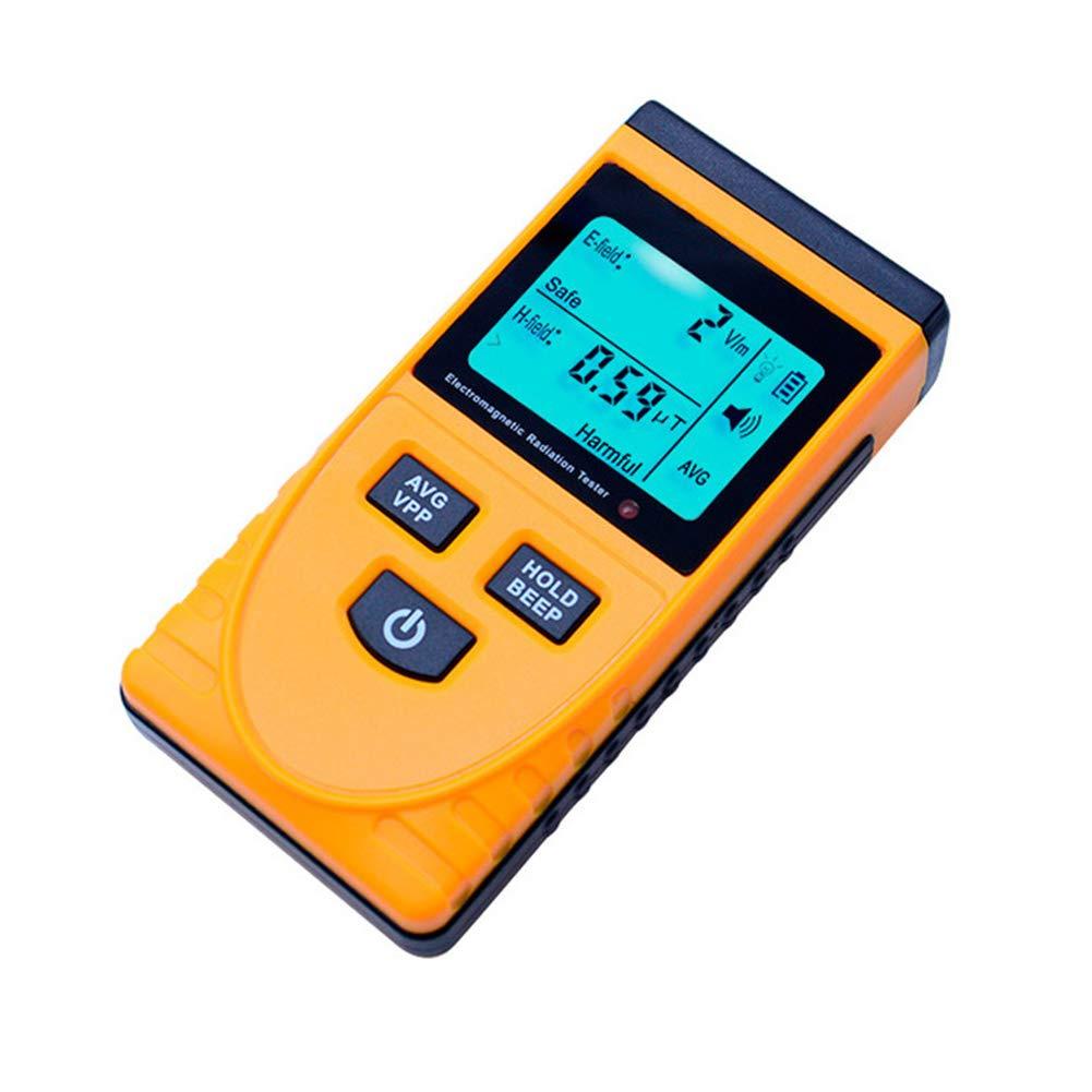 Ocamo Digital LCD Electromagnetic Radiation Detector Dosimeter Tester Electric& Magnetic Field Radiometer Meter