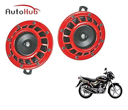 auto hub red grill bike horn for yamaha libero g5 set of two red rh amazon in