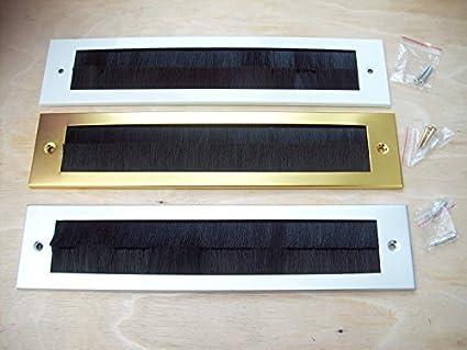 Ironmongery World Steel Letter Box Internal Cover Brush Seal Flap Drought Exc.