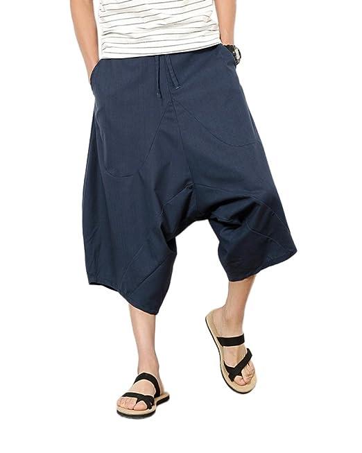 DianShaoA Hombres De Los Pantalones Cortos del Harem Retro Informal Capri  De Hip Hop  Amazon.es  Ropa y accesorios d2fc2e84cbf