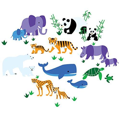 Kids Olive Wallpaper - Wallies Wall Decals Olive Kids Endangered Animals