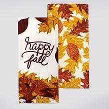 Harvest Season 2-pack Autumn Thanksgiving Kitchen Dish Towels - Happy Fall