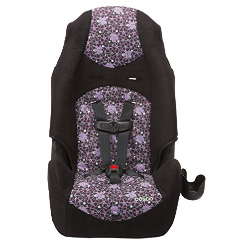Cosco - Highback 2-in-1 Booster Car Seat - 5-Point Harness or Belt-positioning - Machine Washable Fabric - 13 Colors, Sugar Plum