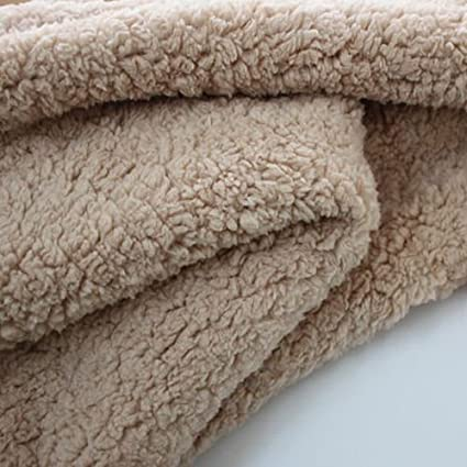 414b0d8a2928e Amazon.com  Soft Sherpa Fleece Lamb Fur Fabric Berber Fleece Fabric Lining  Cloth Faux Wool Coat Liner 60