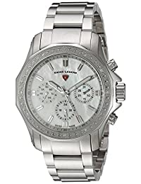 Swiss Legend SL-16201SM-22 Women's Islander Quartz Stainless Steel Automatic Wrist Watch, Silver-Toned