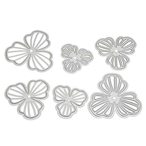 (Flower Metal Cutting Dies Stencils DIY Scrapbooking Album Paper Card Craft by)