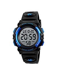 Youth Watches Boys Classic Multi Function Digital Watches with Day Date Alarm Chronograph Easy Read 1266bb