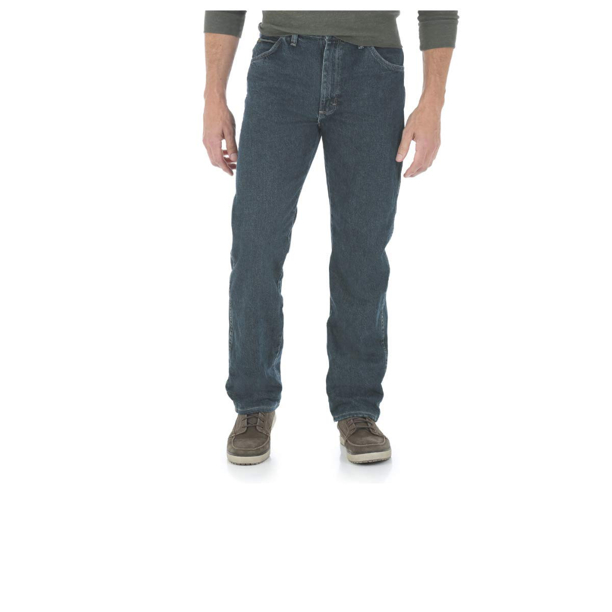 4cfd6036 Wrangler Men's 5 Star Relaxed-Fit Premium Denim Jeans at Amazon Men's  Clothing store: