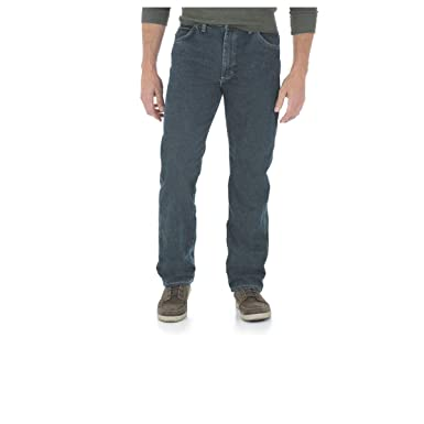2557081c Wrangler Men's Five Star Premium Relaxed Fit Jean (30X32, Black Indigo)
