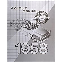 1958 Chevy Car Assembly Manual Biscayne Bel Air Impala El Camino Nomad Chevrolet 58 (with Decal)