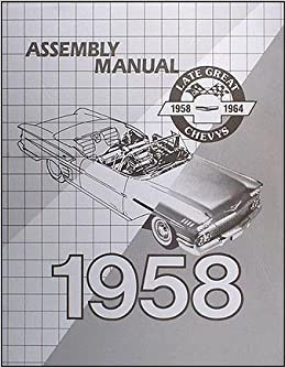 58 Chevy Impala Electrical Wiring Diagram Manual 1958 Queue Ah Jp