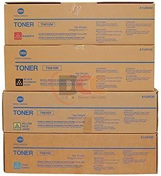 Toner CartridgeCompatible with Konica Minolta TN615 Toner Cartridge for Konica Minolta C8000 Ink Cartridge Copier Toner Cartridge 4 Colors-Orange
