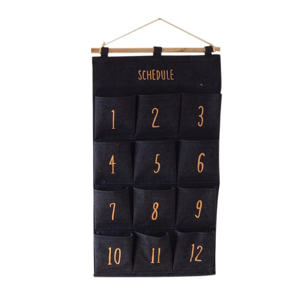 Dosige Hanging Storage Bag 12 Pocket Closet Wardrobe Handbag Space Saver Hanging Pocket Bag
