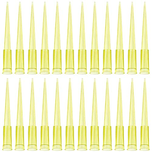 OIIKI Universal Pipette Tips, 500pcs 200ul Liquid Pipettor Tips, Clear Yellow, DNase/RNase Free Disposable Pipette Tips for Lab (Color: 500 Pack)