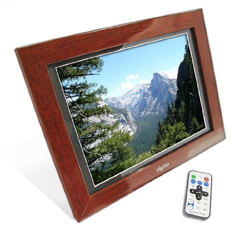 12 Wood Effect Large Digital Photo Picture Frame With Amazoncouk
