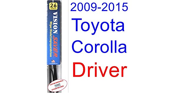 Amazon.com: 2009-2015 Toyota Corolla S Wiper Blade (Driver) (Saver Automotive Products-Vision Saver) (2010,2011,2012,2013,2014): Automotive