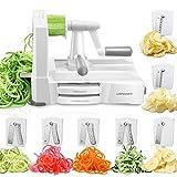 URPOWER Spiralizer Vegetable Slicer 7-Blade Vegetable Spiralizer, Strongest & Heaviest Duty Zoodle Maker, Food Processor, Veggie Pasta, Spaghetti Maker & Julienne Cutter for Low Carb/Paleo/Gluten-Free