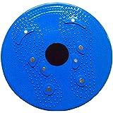 قرص دوار بقاعدة دوار لتمارين الخصر و البطن - ازرق