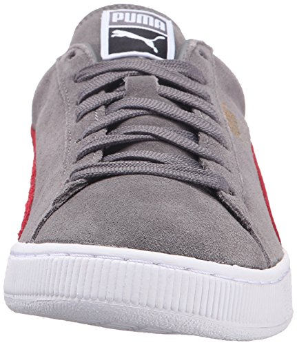 PUMA Adult Wildleder Klassischer Schuh Steel Grey / Barbados Kirsche