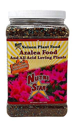 - Nelson Plant Food for All Acid Loving Plants In Ground Container Patio Food Huge Blooms Azalea Jasmines Roses Camellias Gardenias NutriStar 9-13-11 (4 lb)