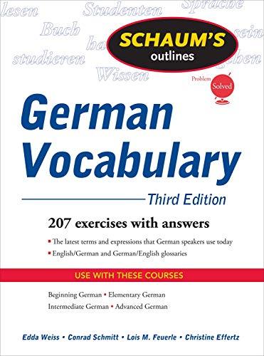 German Vocabulary (Schaum's Outlines)