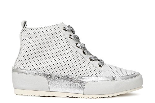 203 In Allacciata Sneakers Kde127 Cafènoir Microforata Mid Bianco Pelle wq07nFB