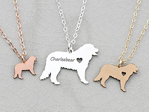 Bernese Mountain Dog Necklace - IBD - Berner - Personalize with Name or Date - Choose Chain Length - Pendant Size Options - 935 Sterling Silver 14K Rose Gold Filled Charm - Ships in 1 Business Day