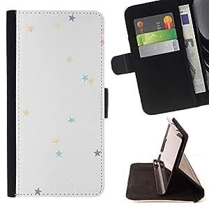 - Queen Pattern FOR Apple Iphone 6 /La identificaci????n del cr????dito ranuras para tarjetas tir????n de la caja Cartera de cuero cubie - stars colorful pastel colors wallpaper