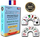 Linguacious Award-Winning Around The Home French Flashcard Game - The ONLY One with Audio!