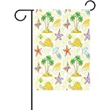 Best Turtles With Flag Shells - Startor Tropical Palm Tree Garden Flag Sea Turtle Review