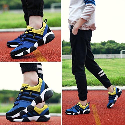 Salle Chaussures Dans Route De Course Femmes bleu Note Du Jaune Casual Espadrille Taille Gracosy L'image Hommes table Unisexe Fabricant Sport La 4fwrvqZ4