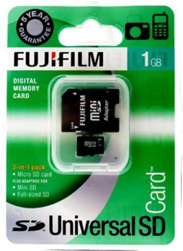 Fujifilm Micro SD-Tarjeta 1 GB Tarjeta de Memoria Mini-SD y SD ...